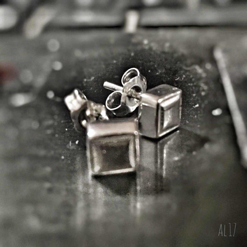 Aretes de plata Olivier